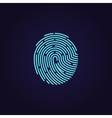 Id app fingerprint icon vector image