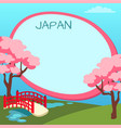 japan touristic concept with copyspace vector image vector image