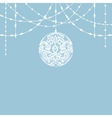 lace bauble decorations vector image vector image