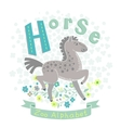 Letter H - Horse vector image vector image