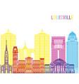 louisville v2 skyline pop vector image vector image