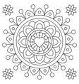 mandala coloring page black and white vector image vector image