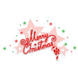 merry christmas with an openwork design vector image vector image
