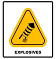 No Fireworks warning icon vector image