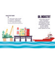 oil industry with marine platform vector image