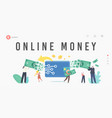 online payment electronic virtual transaction vector image vector image