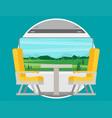 passenger train inside flat style vector image vector image
