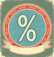 percentage sign label vector image vector image
