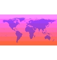 Pink World Map vector image vector image