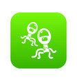 protozoan virus icon green vector image