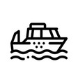 public transport water taxi thin line icon vector image vector image