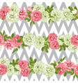realistic pink rose 3d seamless roses vector image vector image