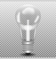 realitic lamp bulb isolated on grey background in vector image vector image