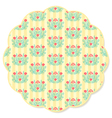 Retro flower round napkin vector image vector image