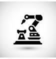 Robotic arm machine icon vector image