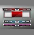 scoreboard sport template vector image vector image