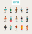 set flat design professional people characters vector image vector image