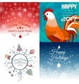 Set of Merry Christmas e-card template vector image vector image