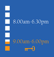 Shop timetable vector image