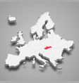 slovakia country location within europe 3d map vector image vector image