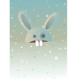 snow rabbit vector image vector image