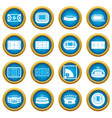sport stadium icons blue circle set vector image vector image