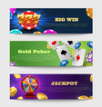sports gambling banners with lottery machine vector image vector image