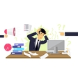 Stressful Condition Icon Flat Isolated vector image