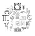 teaching icons set outline style vector image vector image