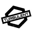 turbulent rubber stamp vector image vector image