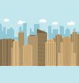 urban landscape vector image