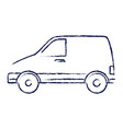 van vehicle isolated icon vector image