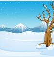 winter mountain landscape w vector image