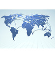 World trade logistics commercial streams vector image