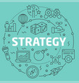 green line flat circle strategy vector image