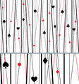Abstract Seamless Poker Pattern vector image