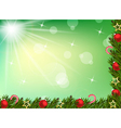 Christmas background with balls and decoration vector image