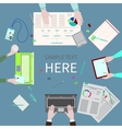 Office Table vector image