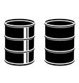 3D metal barrel black symbol vector image vector image