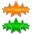 A set of stars vector image