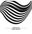 abstract black and white 3d waves color background vector image vector image
