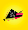 abstract sale banner sale 50 off vector image