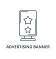 advertising banner line icon outline vector image
