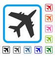 aircraft framed icon vector image