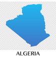 algerai map in africa continent vector image vector image