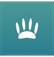Animal footprint flat icon vector image vector image