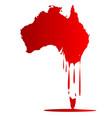 australia melting down vector image vector image