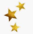 beautiful golden glitter sparkles stars vector image