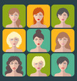 big set different women app icons in vector image