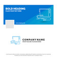 blue business logo template for audio card vector image